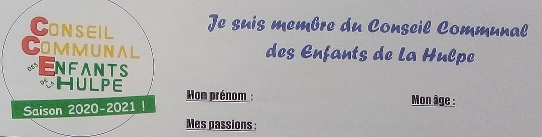 Les nouveaux membres du CCE La Hulpe saison 2020-2021